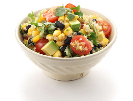 side salad: quinoa salad, vegetarian food Stock Photo