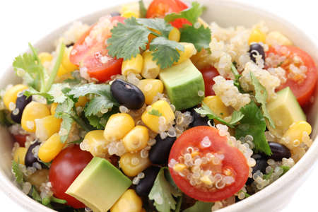 vegan food: quinoa salad, vegetarian food Stock Photo