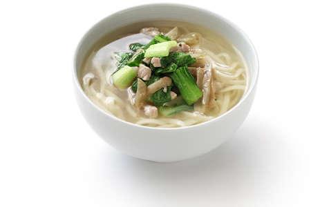 zha cai rou si 麺、中国麺細切りピクルス マスタード茎と豚肉麺 写真素材