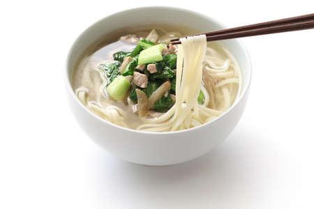 細切りピクルス マスタード茎と豚肉麺中華麺料理 zha cai rou si mian