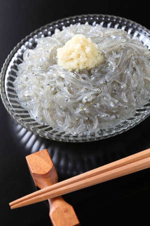 raw whitebait, japanese food photo