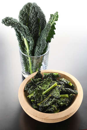 kale: black kale chips Stock Photo