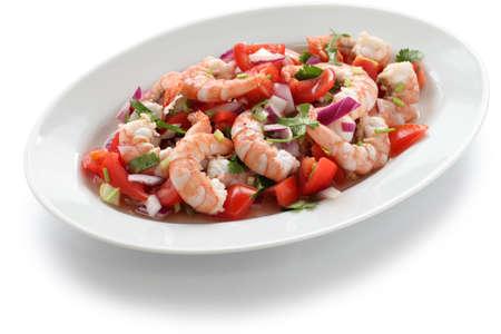marinated: shrimp ceviche , prawn ceviche, seafood marinated salad Stock Photo