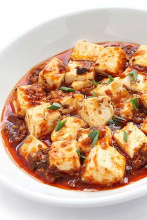 comida gourment: mapo tofu, estilo sichuan, comida china