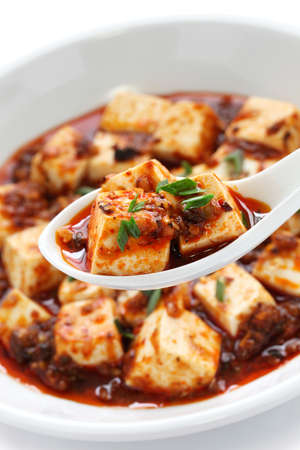 bean curd: mapo tofu, sichuan style, chinese food Stock Photo