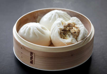 minced: steamed pork buns, chinese dim sum