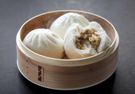 dumpling: steamed pork buns, chinese dim sum