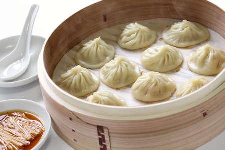plat chinois: boulettes de soupe, Xiaolongbao, Xiao Long Bao, nourriture chinoise Banque d'images