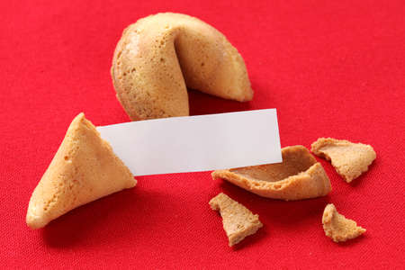 fortune cookie with blank message photo