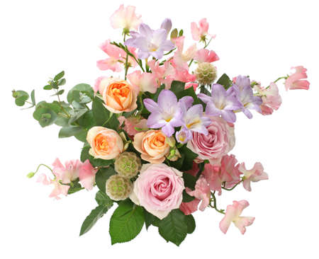 a bunch of flowers, flower arrangement photo
