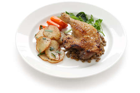 duck confit, french bistro dish photo