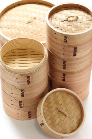 bamboo steamer set, chinese kitchenware Stock Photo - 19799270