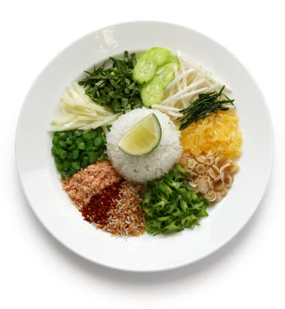 southern thailand: khao yam, rice salad, thai cuisine Stock Photo