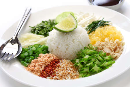 khao yam, rice salad, thai cuisine photo
