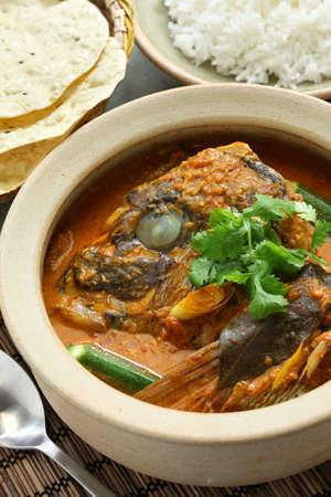 fish head curry, singaporean cuisine photo