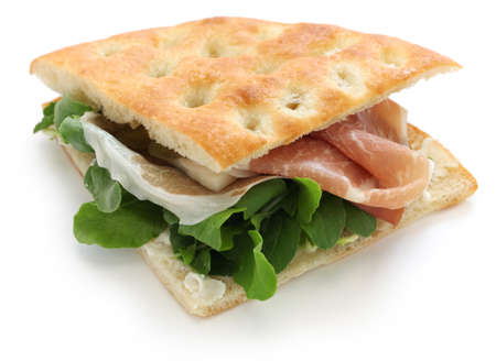 panino: focaccia panino, italian sandwich Stock Photo