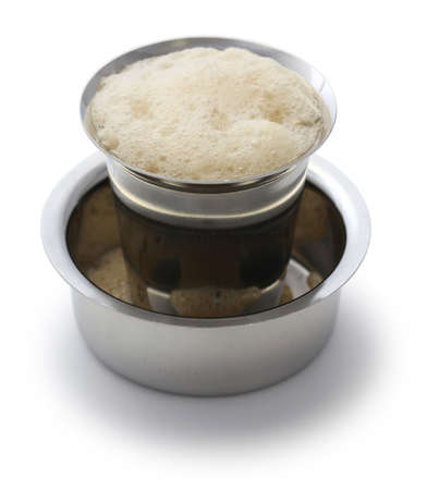 Madras: Madras filter coffee in dabarah and tumbler, south indian style