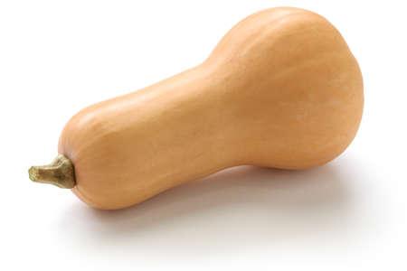 butternut 스쿼시 흰색 배경에 고립