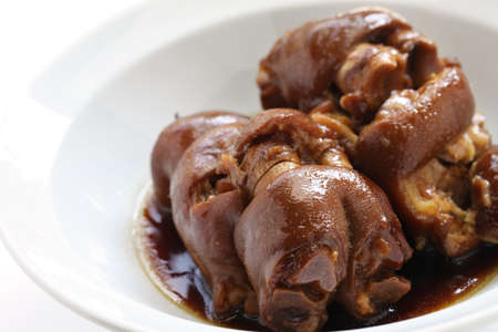 red braised: braised pig s trotters with brown sauce, chinese food
