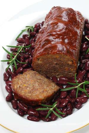 pastel de carne: cl�sico pastel de carne, comida americana