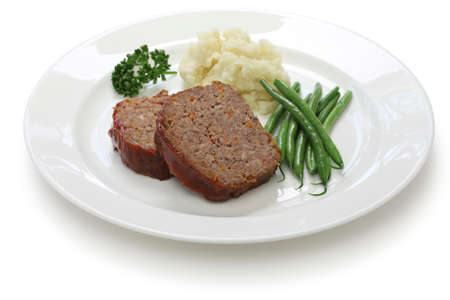 albondigas: cl�sico pastel de carne, comida americana