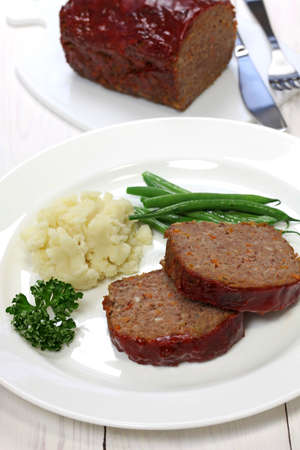 classic meatloaf, american food photo