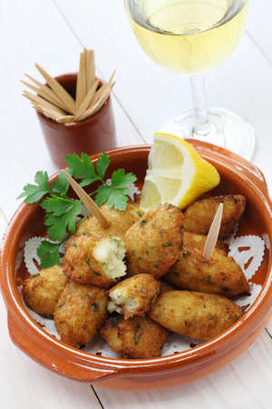codfish: salt cod  bacalhau,bacalao  fritters, croquettes
