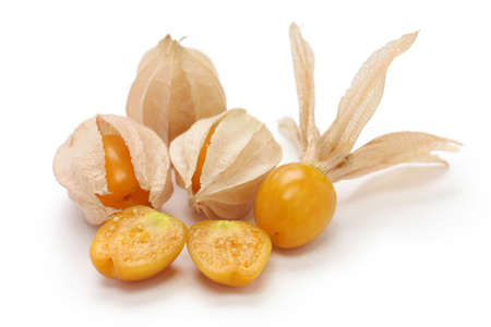 husk tomato: physalis, edible husk tomato Stock Photo