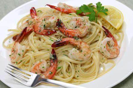 pasta with shrimp scampi photo