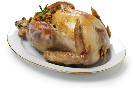 stuffing: roast turkey with stuffing, thanksgiving day dinner