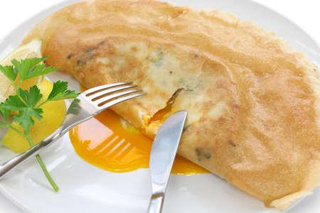 turnover: brik, egg and tuna turnover, tunisian food