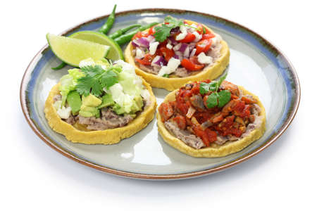 mexican food: sopes, traditional mexican dish