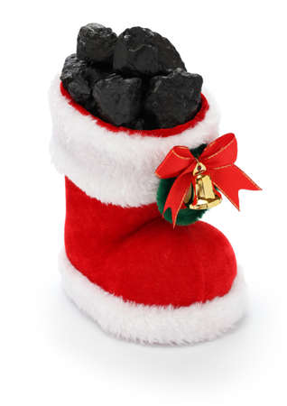 carbone: regalo di Natale per i cattivi ragazzi e le cattive ragazze, Natale calza piena di carbone