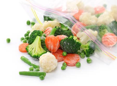 comida congelada: vegetales congelados caseros