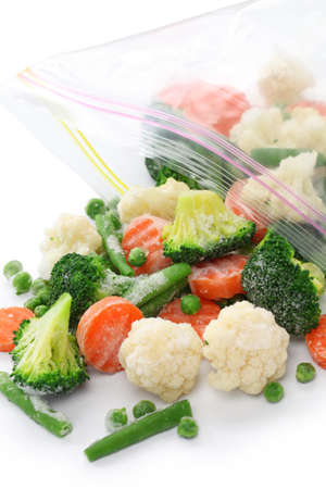 freezer: homemade frozen vegetables