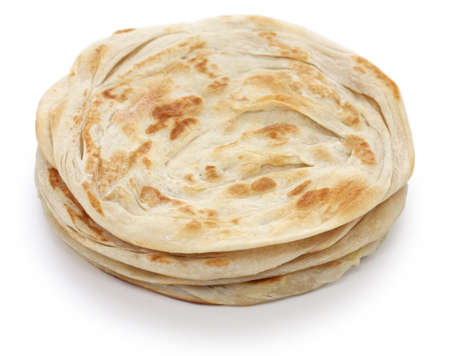 plain paratha, multi layered indian flat bread Stock Photo