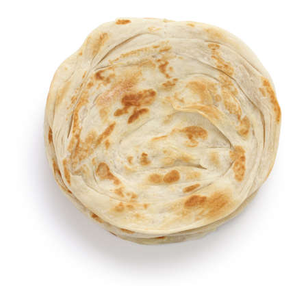 ghee: plain paratha, multi layered indian flat bread Stock Photo