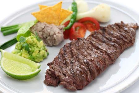 Arrachera, mexicano bistec de falda con especias Foto de archivo - 26333403