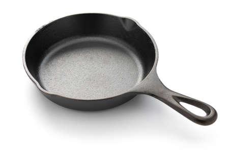 cast iron pan: skillet isolated on white background Stock Photo