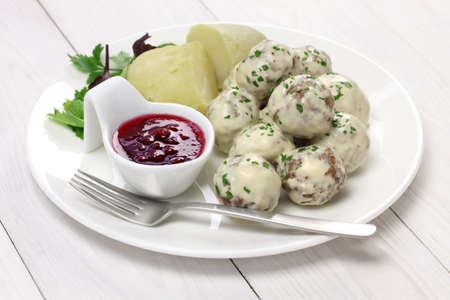 Swedish meatballs, svenska kottbullar photo