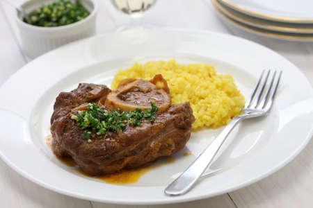 ossobuco alla milanese, italian cuisine 版權商用圖片
