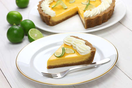 cream pie: homemade key lime pie