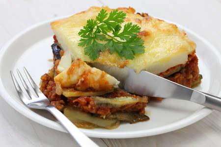 casserole: homemade moussaka, greece cuisine