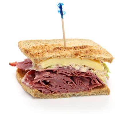 toothpick: reuben sandwich, pastrami sandwich