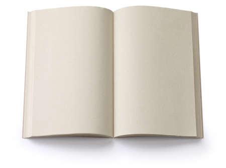 opened blank paperback isolated on white  photo
