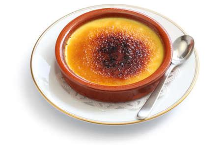 brulee: crema catalana, catalan cream, spanish dessert Stock Photo