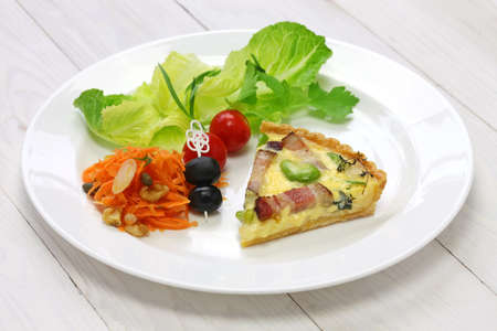 fava: homemade quiche, French cuisine, party food