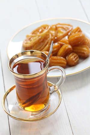 iranian tea and sweets, zoolbia bamieh