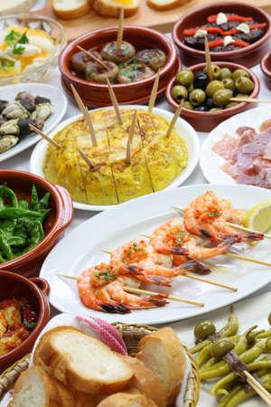 spanish tapas bar food variety