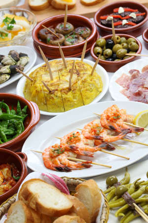 spanish tapas: spanish tapas bar food variety